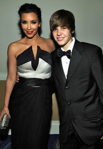 "Justin Bieber and new ""girlfriend"" Kim Kardashian"